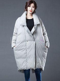 1 new message Oversized Puffer Coat, Long Puffer Coat, Bat Sleeve, Hip Bones, Mock Neck, Fashion Online, Raincoat, Winter Jackets, Sleeves