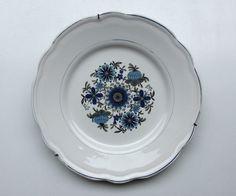 sini-vihreä-valkoinen (seinä)lautanen . halkaisija 24.5cm