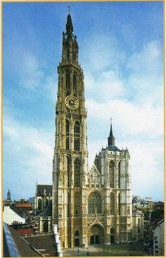 Cathedral of Our Lady, Antwerp, Belgium World Pictures, Travel Pictures, Antwerp Belgium, Cathedral Church, Places In Europe, Vatican City, Mosques, Gothic Architecture, Beautiful Places To Visit