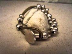 pulseras de cuero y baño de plata