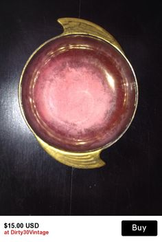 Carltonware Art Deco Handled Bowl Rouge Royale Red Gold Stoke-on-Trent Pottery 1940s 1970s Decorative