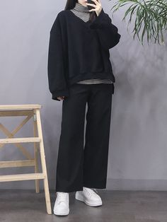 Black Girl Fashion, 80s Fashion, Modest Fashion, Asian Fashion, Look Fashion, European Fashion, Fashion 2020, Fashion Clothes, Korean Winter Outfits