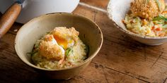 Bubble and Squeak Risotto Recipe - Great British Chefs Pureed Food Recipes, Rice Recipes, Veggie Recipes, Vegetarian Recipes, Recipies, Vegetarian Dinners, Easy Recipes, Recipe For Bubble And Squeak, Deep Fried Egg
