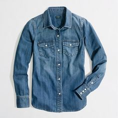 Tried to get this shirt today- key word is tried-Factory two-pocket denim shirt