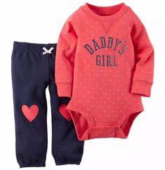 Daddy's Girl Onesie + Pants #babygirlsweatshirt