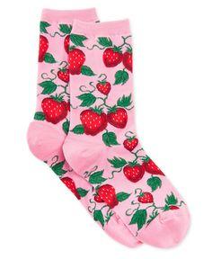Hot Sox Women's Strawberry Socks - Tights, Socks, & Hosiery - Handbags & Accessories - Macy's