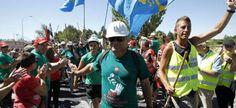 #MarchaNegra, columna norte proveniente de Asturias y León  @Asturgalicia   Twitter