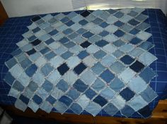 Rag Quilts - How to make a Denim Rag Quilt | Blue jean quilts, Rag ... : blue jean rag quilt - Adamdwight.com