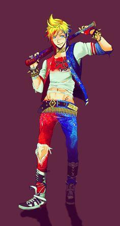 Prompto Harley Quinn