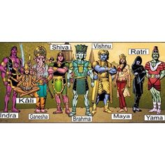The Original #SuperFriends. #GodsandGoddesses #Deities #HinduGods # # #➕