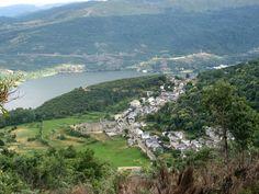 El lago de Sanabria y San Martín desde la subida a la laguna de los Peces. River, Outdoor, Viajes, Places, Outdoors, Outdoor Living, Garden, Rivers