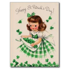 Get your hands on a customisable Cute Vintage St Patricks Day postcard from Zazzle. Find a large selection of sizes and shapes for your postcard needs! Vintage Greeting Cards, Vintage Postcards, Vintage Images, Vintage Wedding Cards, Vintage Pictures, St Patrick's Day, St Patricks Day Cards, Happy St Patricks Day, Fete Saint Patrick