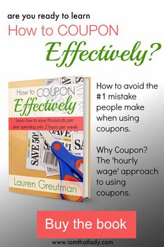 Want to learn how to save money using coupons? Here is a great ebook that helps you learn how to do it the right way! #frugalliving #couponing #tips #hacks