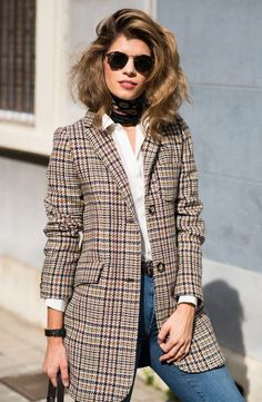 Smart Casual Outfit, Blazer Outfits Casual, Plaid Outfits, Classy Casual, Business Casual Outfits, Classy Outfits, Pretty Outfits, Winter Mode Outfits, Winter Fashion Outfits