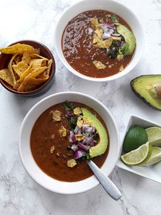 20 minute Easy Healthy Black Bean Soup uses handful of pantry ingredients. It is vibrant one pot delicious nourishment. Bean Soup Recipes, Vegetarian Recipes, Healthy Recipes, Vegan Soups, Slow Cooker Recipes, Cooking Recipes, Black Bean Soup, Veggie Soup, Healthy Eating