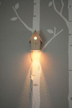Avery Wall Hanging Birdhouse Lamp - Modern Baby Nursery Lighting. $110.00, via Etsy.