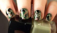 This might be a good mani for working at the Legion... The Nailasaurus | UK Nail Art Blog