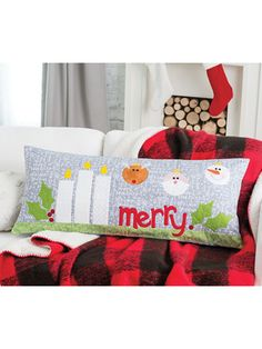 Christmas & Winter Quilt Patterns - Bench Pillows for All Seasons Christmas Quilt Patterns, Halloween Pillows, Winter Quilts, Colorful Pillows, Pillow Forms, Quilt Making, All Design, Pattern Design, Pillow Covers