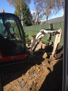 Digging the foundations sunroom digger