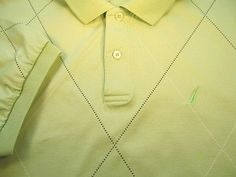 Nautica Mens POLO Shirt XL Extra Large Green Logo S. Sleeve Button Golf Lime