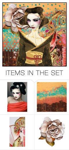 """""""Geisha Portrait 2 -  (contest)"""" by dor-2018 ❤ liked on Polyvore featuring art"""