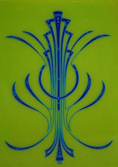 art deco pinstriping - Google Search
