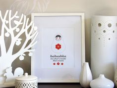 Babushka Doll Limited edition print by Bron Alexander. It's whats inside that counts.