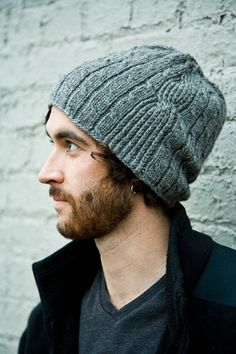 Men's Hat Knitting Pattern by Woolibear