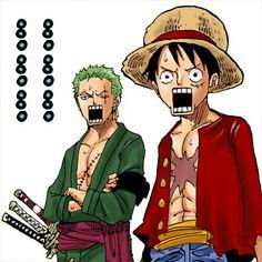 Zoro , Luffy / Stamp Deco One Piece