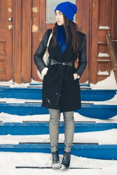 Sarah Monaco /  Photos : Sarah Emily St-Gelais Outfits 2014, Fashion Outfits, Monaco, Zara, Coat, Jeans, Photos, Jackets, Down Jackets