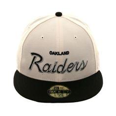 d6be907862b8b8 Exclusive New Era 59Fifty Oakland Raiders Logo Hat - 2T White, Black, $39.99