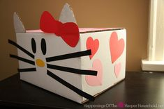 Hello Kitty Valentine Mail Box Tutorial