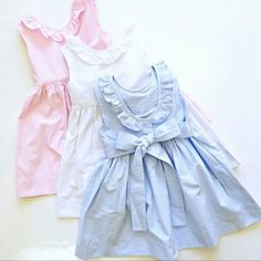 ISABEL DRESSES!  Pink, White & Blue. These beauties will be gracing our website this week and are available NOW in select stores!
