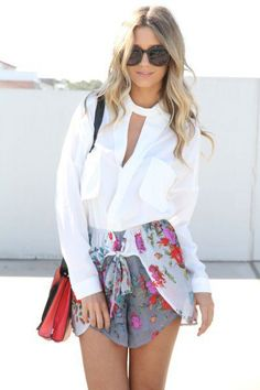 #saboskirt.com            #Skirt                    #SABO #SKIRT #Drape #Shorts #White/Grey #$48.00                           SABO SKIRT Drape Shorts - White/Grey - $48.00                             http://www.seapai.com/product.aspx?PID=1051400