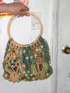 Imagenes de carteras y bolsos tejidos - en macrmes lindos