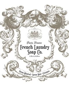 I would live this framed in my Laundry Room. French Laundry Soap Company Print Laundry by letteredandlined Laundry Art, Laundry Room Signs, Vintage Labels, Vintage Ephemera, Vintage Wine, Collages D'images, French Typography, French Signs, Etiquette Vintage