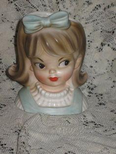 Inarco E2767 Lady Head Vase Teen Girl