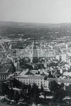 Fotografía antigua: VISTA AEREA DE MURCIA año 1955 (refAM) - Foto 1 - 53593506