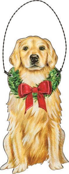 Christmas Golden Retriever Giftbox Pine Snow Noel Unisex Sweatshirt tee