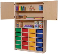 Multi-Purpose Storage with Cubby. GreenGuard Children & Schools Indoor Air Quality Certified from Honor Roll Childcare Supply.