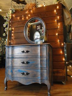 Oxidized Copper Patina chest of drawers. painted furniture Modern Vintage
