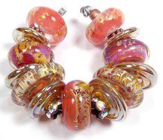 Quinlan Glass Sultan's Daughter Boro Handmade Lampwork Glass Beads