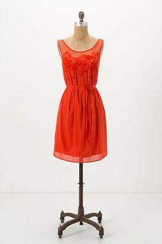 Sangeet Dress - Anthropologie. Love the sheer neckline.