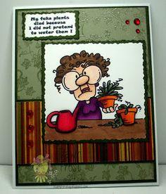 Catch The Bug Challenge Blog: Freebie Friday: Fake Plant Gertrude
