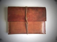 Leather Ipad Sleeve/ Case/ Envelope for IPAD by BayTowneLeatherUSA