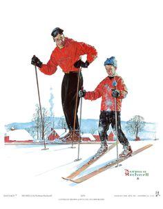 Ski Skills  by Norman Rockwell