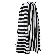 Plus Size Wrap Around Maxi Skirt with Sash, Black and White Stripes (749.145 IDR) ❤ liked on Polyvore featuring skirts, a line maxi skirt, black white striped skirt, a-line skirt, striped maxi skirt and wrap skirt
