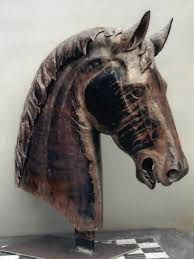 Image result for horses heads sculptures