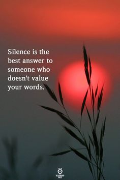 Silence is the best answer to someone who doesn't value your words, motivational memes Quotable Quotes, Wisdom Quotes, True Quotes, Words Quotes, Funny Quotes, Sayings, Motivational Memes, Islamic Inspirational Quotes, Islamic Quotes