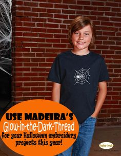 Glow-in-the-dark thread??!! Awesome! Everyone should know there is such a thing as thread that glows! Baby Lock's 2015 Halloween Patterns and Templates